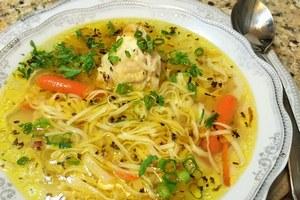 Экзотический куриный суп