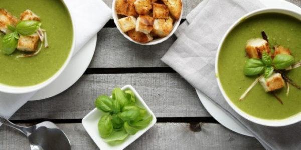 Суп из брокколи и цветной капусты диетический