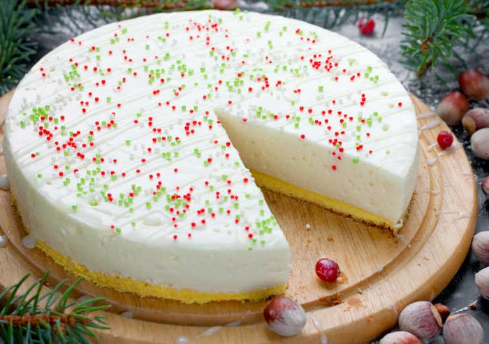 торт на новый год 12
