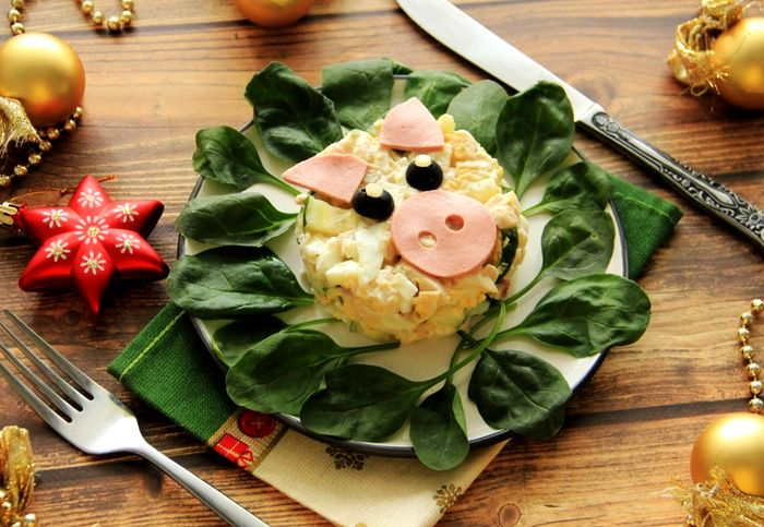 Рецепты новогодних салатов 3