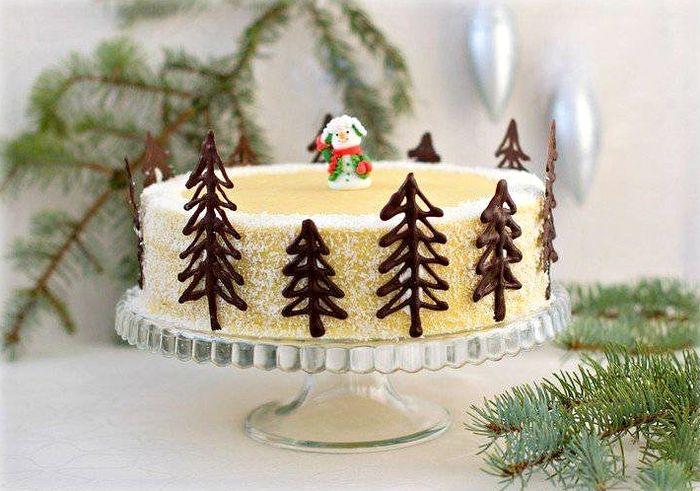 торт на новый год 9